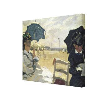Toile Claude Monet   la plage chez Trouville, 1870