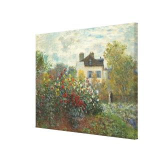 Toile Claude Monet | le jardin de l'artiste à Argenteuil