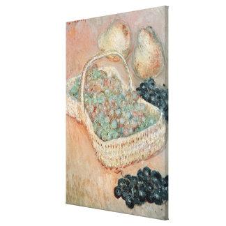 Toile Claude Monet | le panier des raisins, 1884