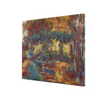 Toile Claude Monet   le pont japonais