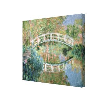 Toile Claude Monet   le pont japonais, Giverny