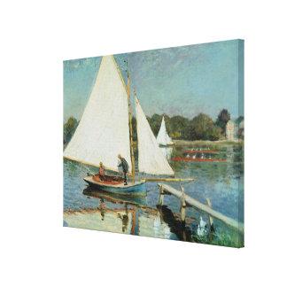 Toile Claude Monet | naviguant à Argenteuil, c.1874
