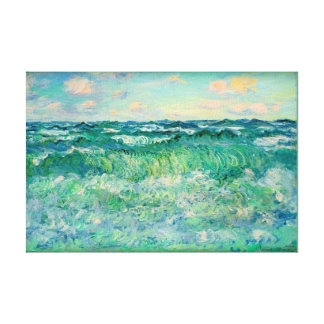 Toile Claude Monet Pourville marin France 17X11.25 ""