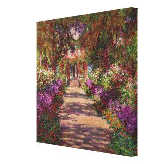 Toile Claude Monet | une voie dans le jardin de Monet