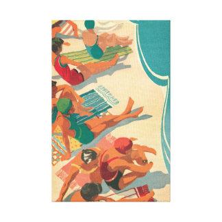 Toile Club de plage de paradis
