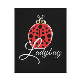 Toile Coccinelle chanceuse