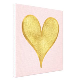 Toile Coeur étincelant d'or