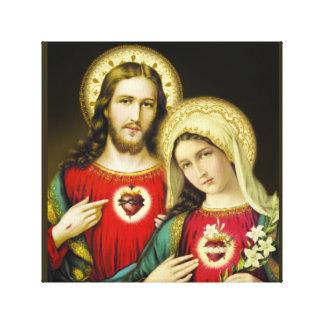 Toile Coeur impeccable sacré Mary de Jésus