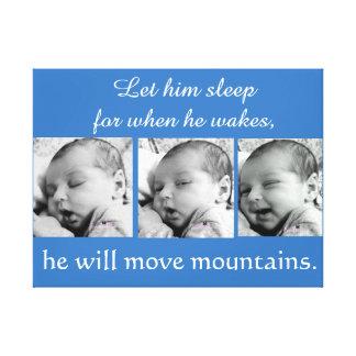 Toile Collage de bébé, 3 photos