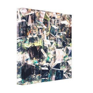 Toile Collection chaotique de cubes
