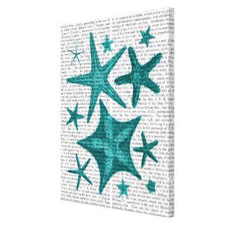 Toile Collection verte d'étoiles de mer