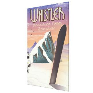 Toile Colombie-Britannique de Whistler faisant du surf
