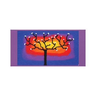 toile colorée d'arbre