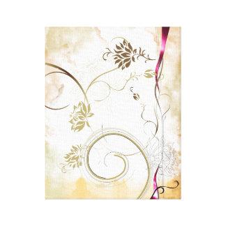 toile colorée de fleur