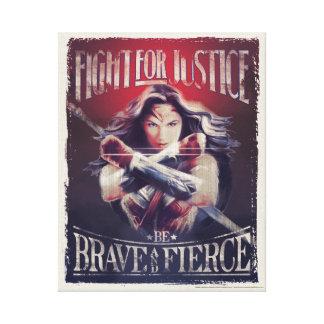 Toile Combat de femme de merveille pour la justice
