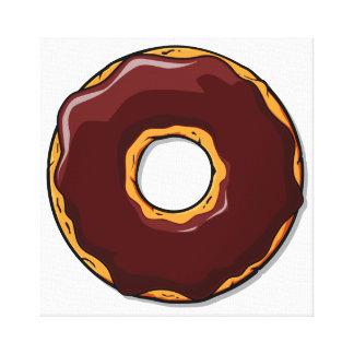 Toile Conception de beignet de chocolat de bande