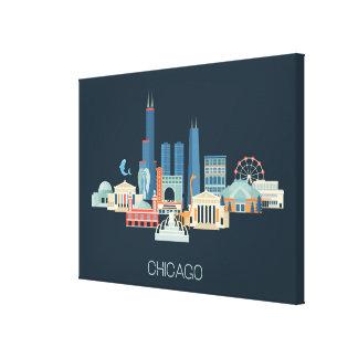 Toile Conception de Chicago, l'Illinois | dans le bleu