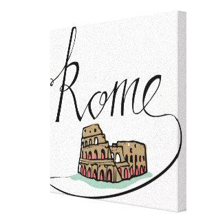 Toile Conception en lettres de main de Rome