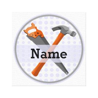 Toile Conception personnalisée nommée d'outils pour des