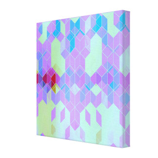 Toile Conception pourpre électrique de cube
