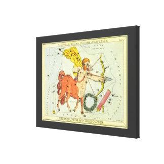 Toile Constellation vintage de Sagittaire d'astrologie