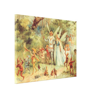 Toile Contes de fées vintages, Thumbelina et prince