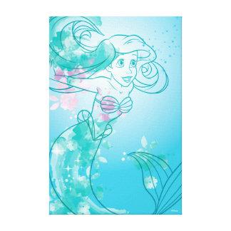 Toile Contour d'aquarelle d'Ariel |