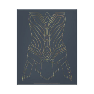 Toile Contour d'armure d'or et de marine de femme de