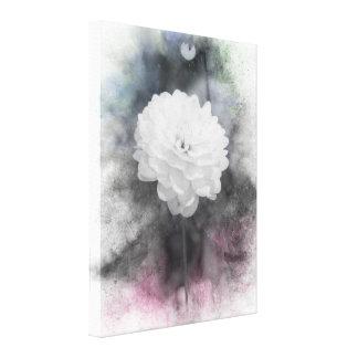 Toile Copie classique d'aquarelle de dahlia
