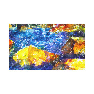 Toile Copie d'aquarelle de Fall River