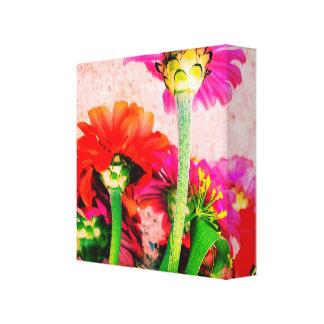 Toile copie de fleur de zinnia
