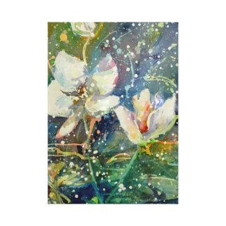 Toile Copie douce d'aquarelle de magnolia
