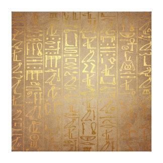 Toile Copie égyptienne de papier de hiéroglyphes d'or