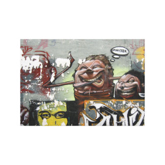 Toile Copie simple de graffiti d'heure-milliampère Coza