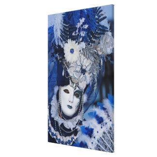 Toile Costume bleu de carnaval, Venise