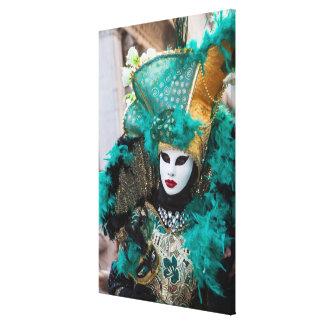 Toile Costume turquoise de carnaval, Venise