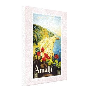 Toile Côte d'Amalfi, publicité de Vintage voyage de