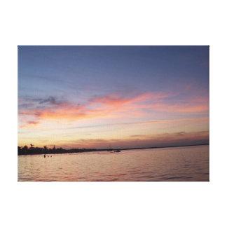 Toile Coucher du soleil au-dessus de baie de la Floride,