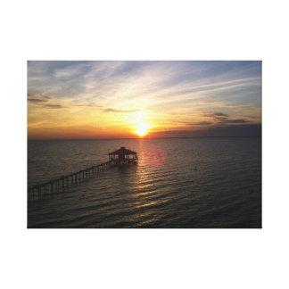 Toile Coucher du soleil au-dessus de baie mobile Alabama