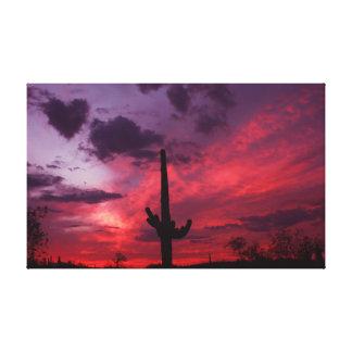 Toile Coucher du soleil avec un coeur à Phoenix du sud