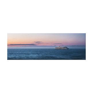 Toile Coucher du soleil d'Alaska de bateau de croisière