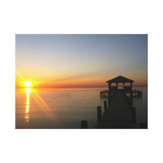 Toile Coucher du soleil de baie mobile - aucun filtre
