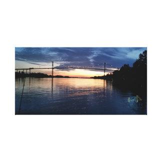 Toile Coucher du soleil de pont d'île de Wellesley