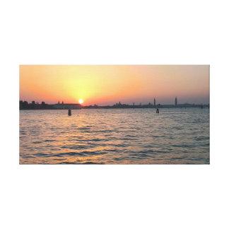 Toile Coucher du soleil de Venise
