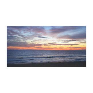 Toile Coucher du soleil d'océan