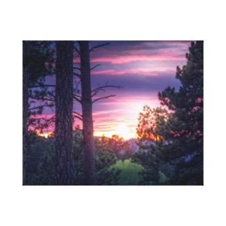 Toile Coucher du soleil du Dakota du Sud
