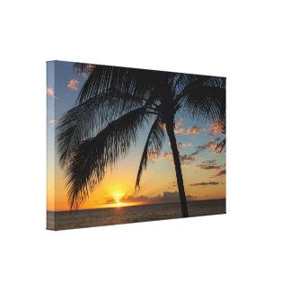 Toile Coucher du soleil du sud de Maui