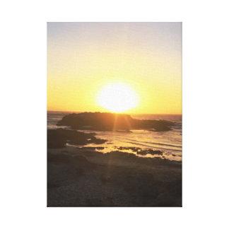 Toile Coucher du soleil romantique || Pescadero, CA ||