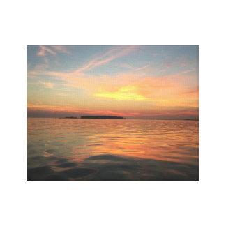 Toile Coucher du soleil sur la baie de chesapeake