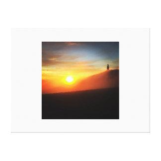 Toile Coucher du soleil sur le Mont Ventoux